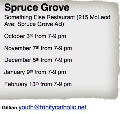 Theology on Tap Spruce Grove,